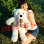 Плюшевый мишка 70 см белый Mishka46