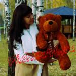 Балу 70 см темно-коричневый Mishka46.ru