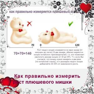 как измерить плюшевого мишку Mishka46.ru