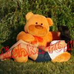 Большой плюшевый мишка светло коричневый 150 см Mishka46