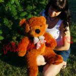 Плюшевый мишка темно-коричневый 70 см Mishka46