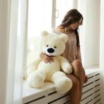 Плюшевый мишка 90 см белый Mishka46.ru
