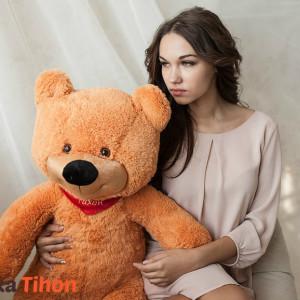 Плюшевый мишка 90 см светло-коричневый Mishka46.ru