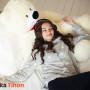 Плюшевый мишка Курск Тихон 130 см Белый 2 Mishka46.ru