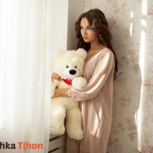 Плюшевый мишка Курск Тихон 60 см Белый Mishka46.ru