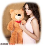 Плюшевый медведь Курск Тихон 200 см Карамельный Mishka46.ru